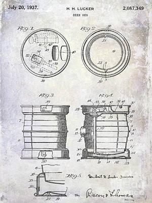 1937 Beer Keg Patent Art Print
