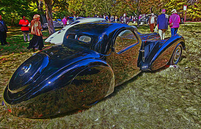 Photograph - 1937 Bugatti Type 57 S C Atalante Coupe by Allen Beatty