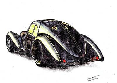 1937 Bugatti Type 57s Art Print by Dan Poll