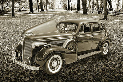 Vintage Auto Photograph - 1937 Buick 40 Special 5541.50 by M K  Miller