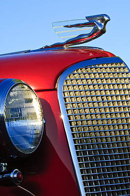 Hoodies Photograph - 1937 Cadillac V8 Hood Ornament 2 by Jill Reger