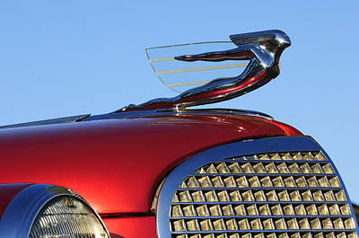 1937 Cadillac V8 Hood Ornament Art Print by Jill Reger