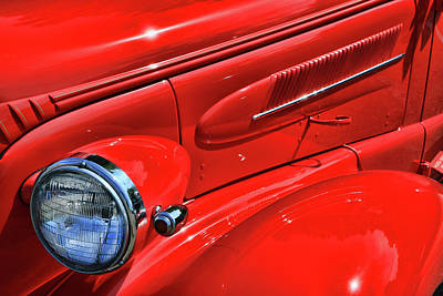 Photograph - 1937 Chevrolet Master Left Quarter Panel by Allen Beatty