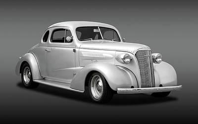 1937 Chevrolet Master Deluxe Custom 2 Door Coupe  -  37chevycoupefa170251 Art Print by Frank J Benz