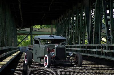 Photograph - 1937 Chevrolet Pickup Rat Rod by Tim McCullough