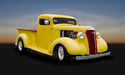 1937 Chevrolet Pickup Truck   -  1937chputrk500 Art Print by Frank J Benz
