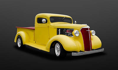 1937 Chevrolet Pickup Truck   -   37chputk502 Art Print by Frank J Benz
