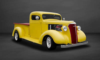 Photograph - 1937 Chevrolet Pickup Truck  -  37chtk504 by Frank J Benz
