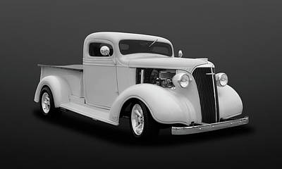 Photograph - 1937 Chevrolet Pickup Truck  -  47chputkbw502 by Frank J Benz