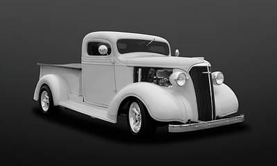 Photograph - 1937 Chevrolet Pickup Truck  -  47chputkbw502 by Frank J Benz