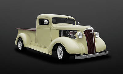 Photograph - 1937 Chevrolet Pickup Truck  -  47chputkdsat502 by Frank J Benz