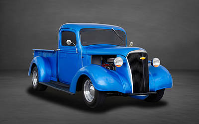 1937 Chevrolet Pickup Truck  -  Chtk22 Art Print by Frank J Benz