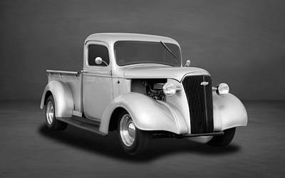 Photograph - 1937 Chevrolet Pickup Truck  -  Chtk33 by Frank J Benz