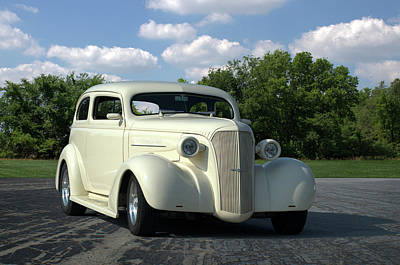 Photograph - 1937 Chevrolet Sedan Hot Rod by TeeMack