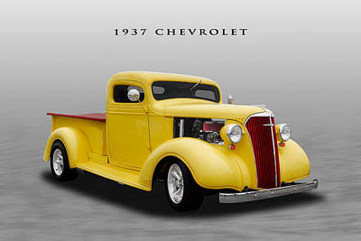 1937 Chevrolet Truck - 4 Art Print by Frank J Benz