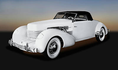 Photograph - 1937 Cord 812 Convertible Coupe  -  1937cordconvertiblecoupe171681 by Frank J Benz
