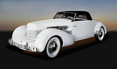 Photograph - 1937 Cord 812 Convertible Coupe  -  1937cordconvertiblecoupe171681 by Frank J Benz
