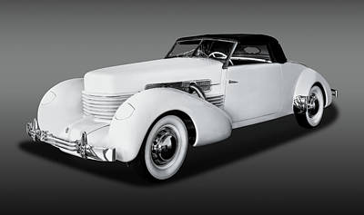 Photograph - 1937 Cord 812 Convertible Coupe  -  1937cordcoupecvfa171681 by Frank J Benz