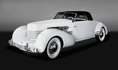 Photograph - 1937 Cord 812 Convertible Coupe   -  1937cordcvcoupegry171681 by Frank J Benz