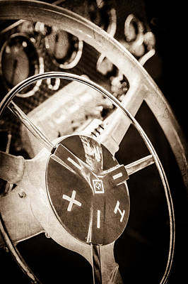 Photograph - 1937 Cord 812 Phaeton Steering Wheel -0012s by Jill Reger