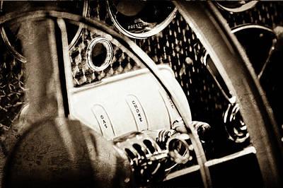 1937 Cord 812 Phaeton Steering Wheel Controls -1719s Art Print by Jill Reger