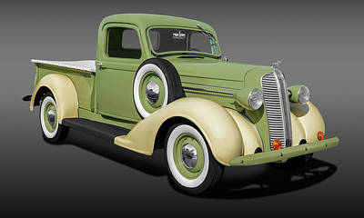 Photograph - 1937 Dodge Brothers Pickup Truck  -  1937dodgebrotherspickupfa173605 by Frank J Benz