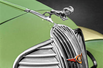 Photograph - 1937 Dodge Brothers Pickup Truck Hood Ornament Detail  -  1937dodgehoodornament173614 by Frank J Benz