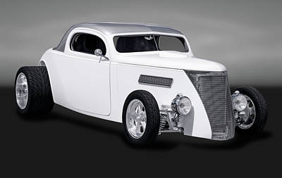 Photograph - 1937 Ford 3 Window Coupe  -  1937coupe3windowgry170958 by Frank J Benz