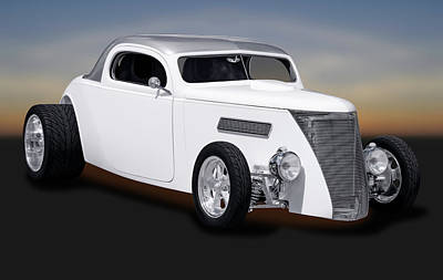 Photograph - 1937 Ford 3 Window Coupe  -  1937ford3windowcoupe170958 by Frank J Benz