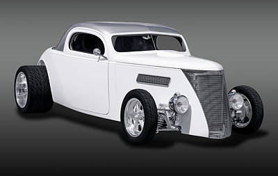 Photograph - 1937 Ford 3 Window Coupe  -  1937fordcoupe3winfa170958 by Frank J Benz