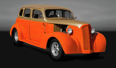 Photograph - 1937 Ford 4 Door Sedan  -  37fordsedgry9964 by Frank J Benz