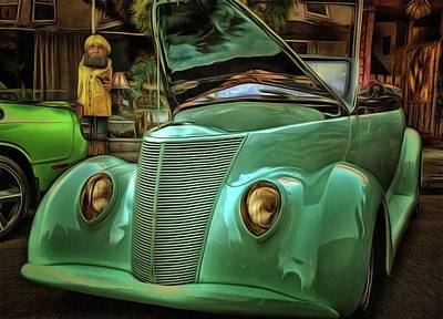 Photograph - 1937 Ford Cabriolet by Thom Zehrfeld