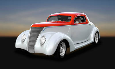 Photograph - 1937 Ford Coupe  -  1937fdcp642 by Frank J Benz