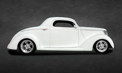 Photograph - 1937 Ford Coupe   -   1937fordcoupetexture173430 by Frank J Benz