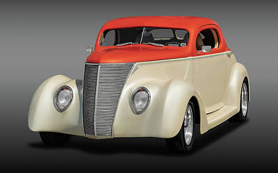 Photograph - 1937 Ford Coupe  -  1937fordcpefa0131 by Frank J Benz