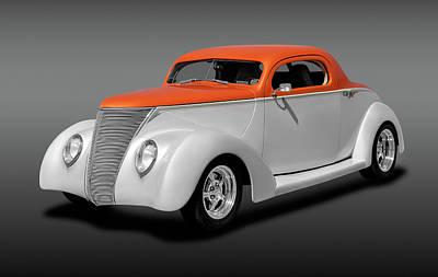 Photograph - 1937 Ford Coupe  -  1937threewindowfordcoupefa184097 by Frank J Benz