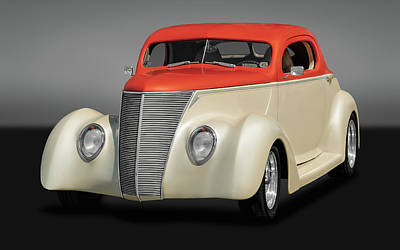 Photograph - 1937 Ford Coupe  -  37fordcoupegry0131 by Frank J Benz