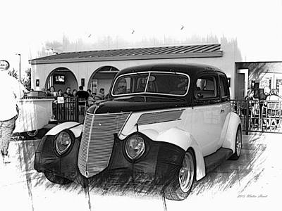 Photograph - 1937 Ford Deluxe Sedan_a1 by Walter Herrit