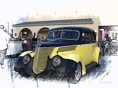 Photograph - 1937 Ford Deluxe Sedan_a2 by Walter Herrit