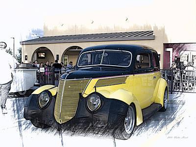 1937 Ford Deluxe Sedan_a2 Art Print