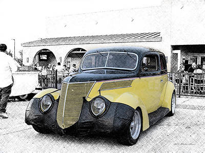 Photograph - 1937 Ford Deluxe Sedan_a4 by Walter Herrit