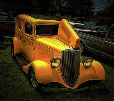 Photograph - 1937 Ford Panel  by Thom Zehrfeld