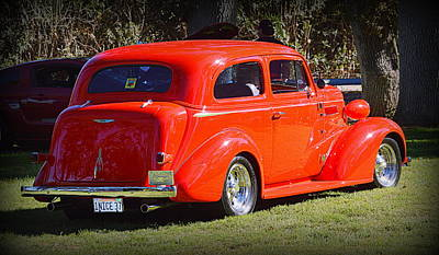 Photograph - 1937 Ford Tudor by AJ Schibig
