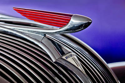 Photograph - 1937 Hudson Terraplane Sedan Hood Ornament 2 by Jill Reger