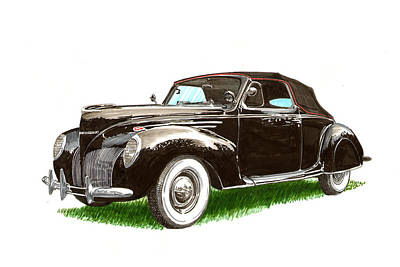 Painting - 1937 Lincoln Zephyer by Jack Pumphrey