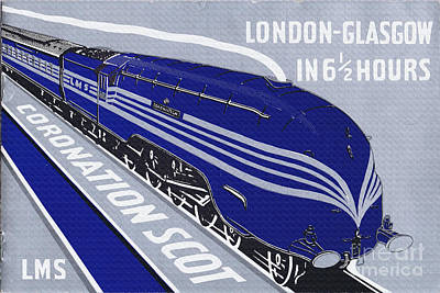 Digital Art - 1937 Lms Coronation Scot Poster by R Muirhead Art