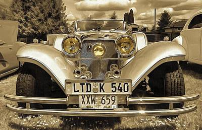 Photograph - 1937 Mercedes 540k Roadster Two by Thom Zehrfeld