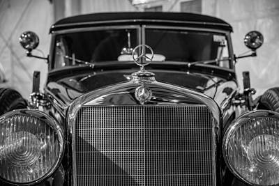 Barrett Jackson Wall Art - Photograph - 1937 Mercedes-benz 320b Cabriolet by Alan Marlowe