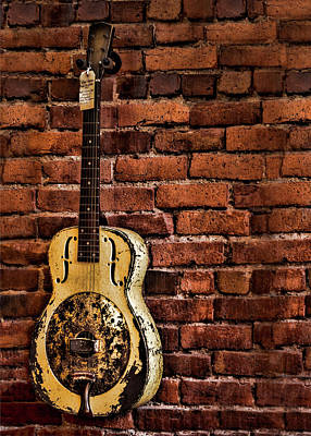 Photograph - 1937 Metal Resonator by Heather Applegate