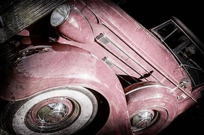 1937 Packard 1508 Dietrich Convertible Sedan -0035ac Art Print